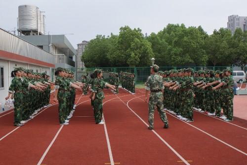 海宁卫校开展高一新生军训活动